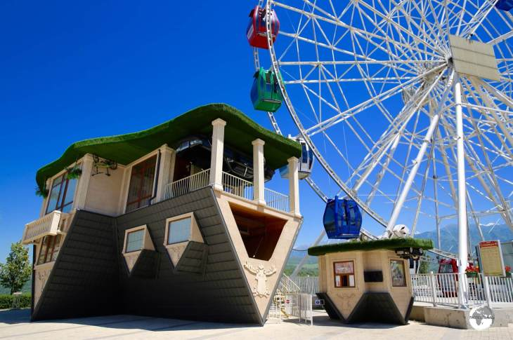 An upside down house at Kok Tobe? The Kazakhs have a quirky sense of humour.