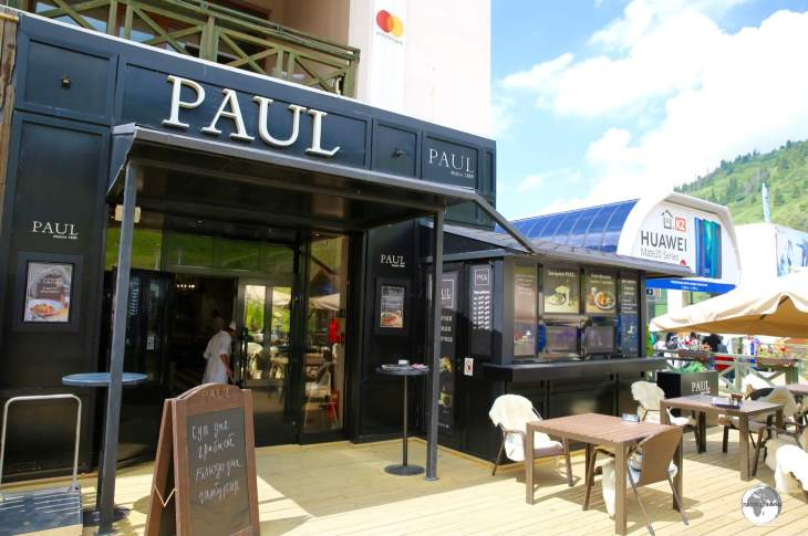 I was surprised to find a branch of my favourite French cafe - Paul - next to the cable car station at Shymbulak.