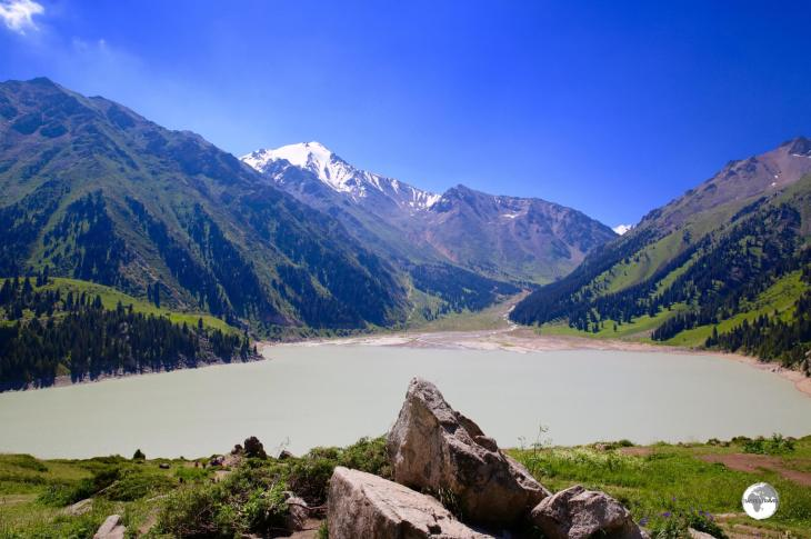 Stunning views are to be found everywhere at Big Almaty Lake.