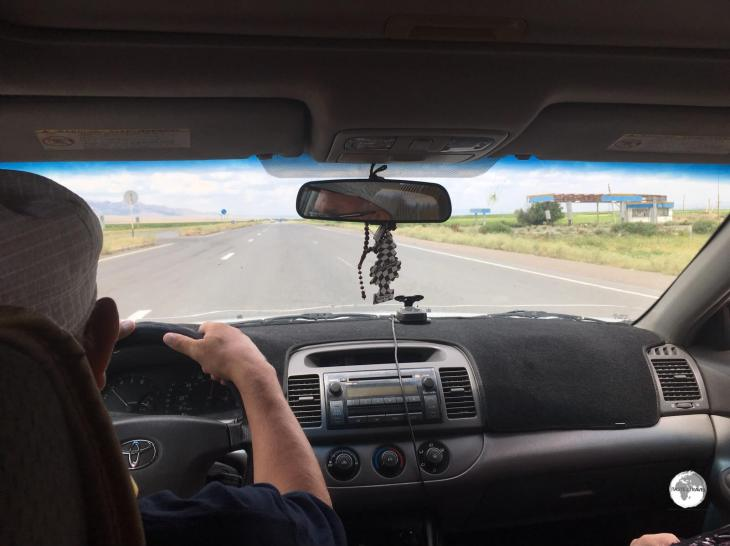 On the road to Bishkek from Almaty.