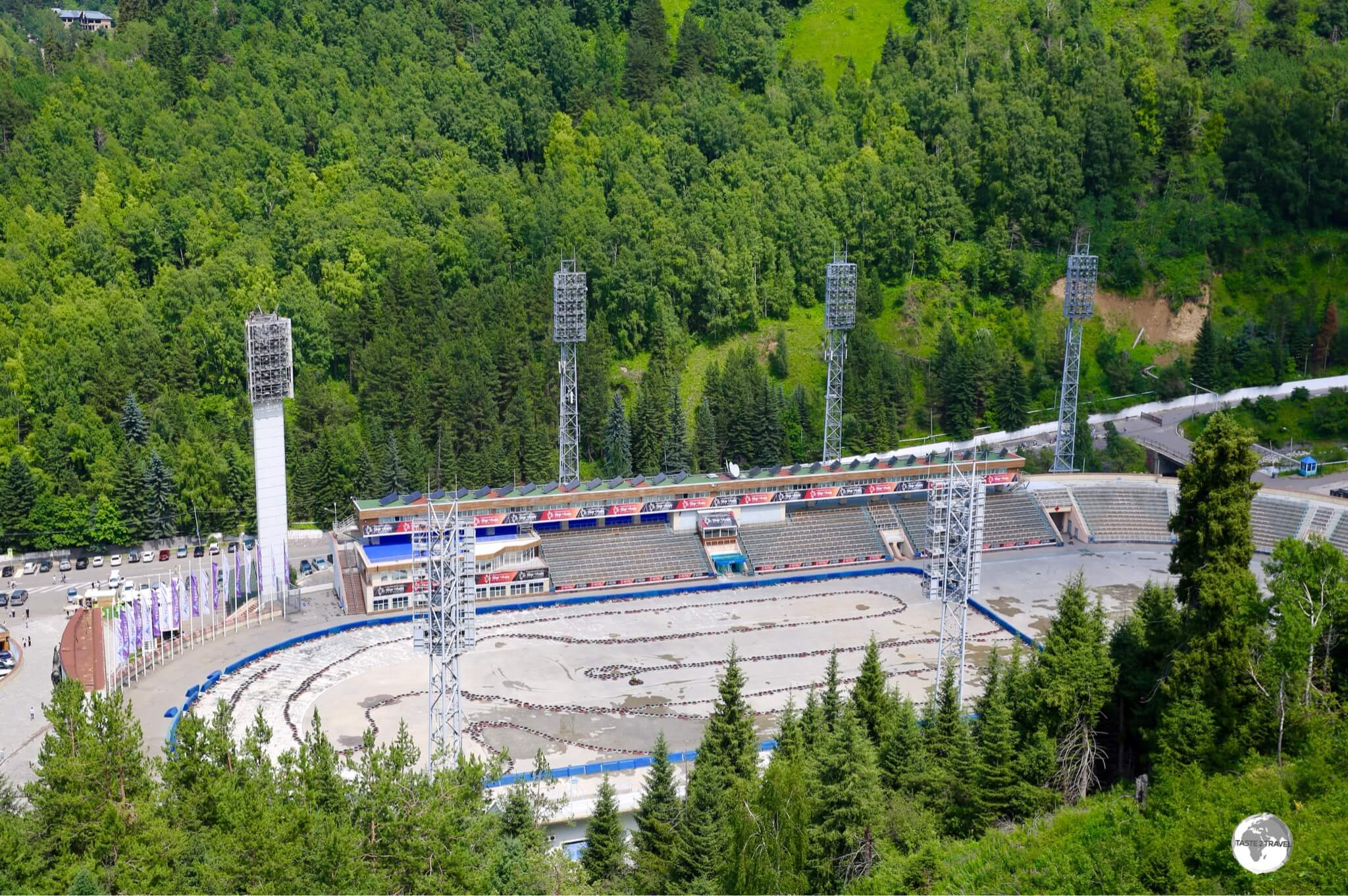 During the summer months, the Medeu arena is used for Go-karting.