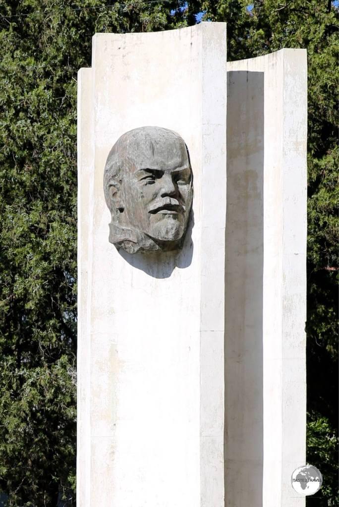 A roadside monument to Lenin in Bishkek.