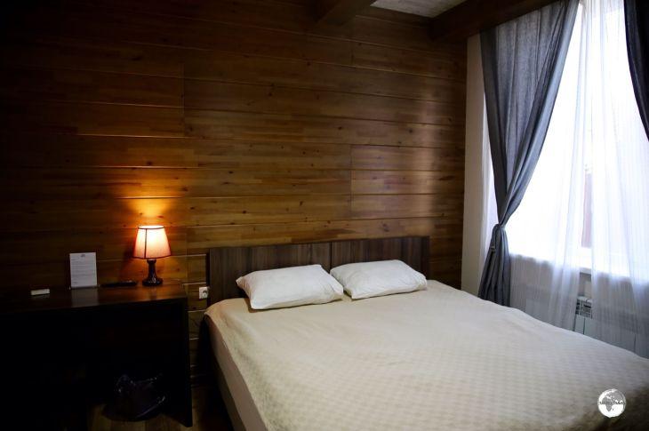 My cosy room at the wonderful <i>Hillside Four Seasons</i> in Karakol.