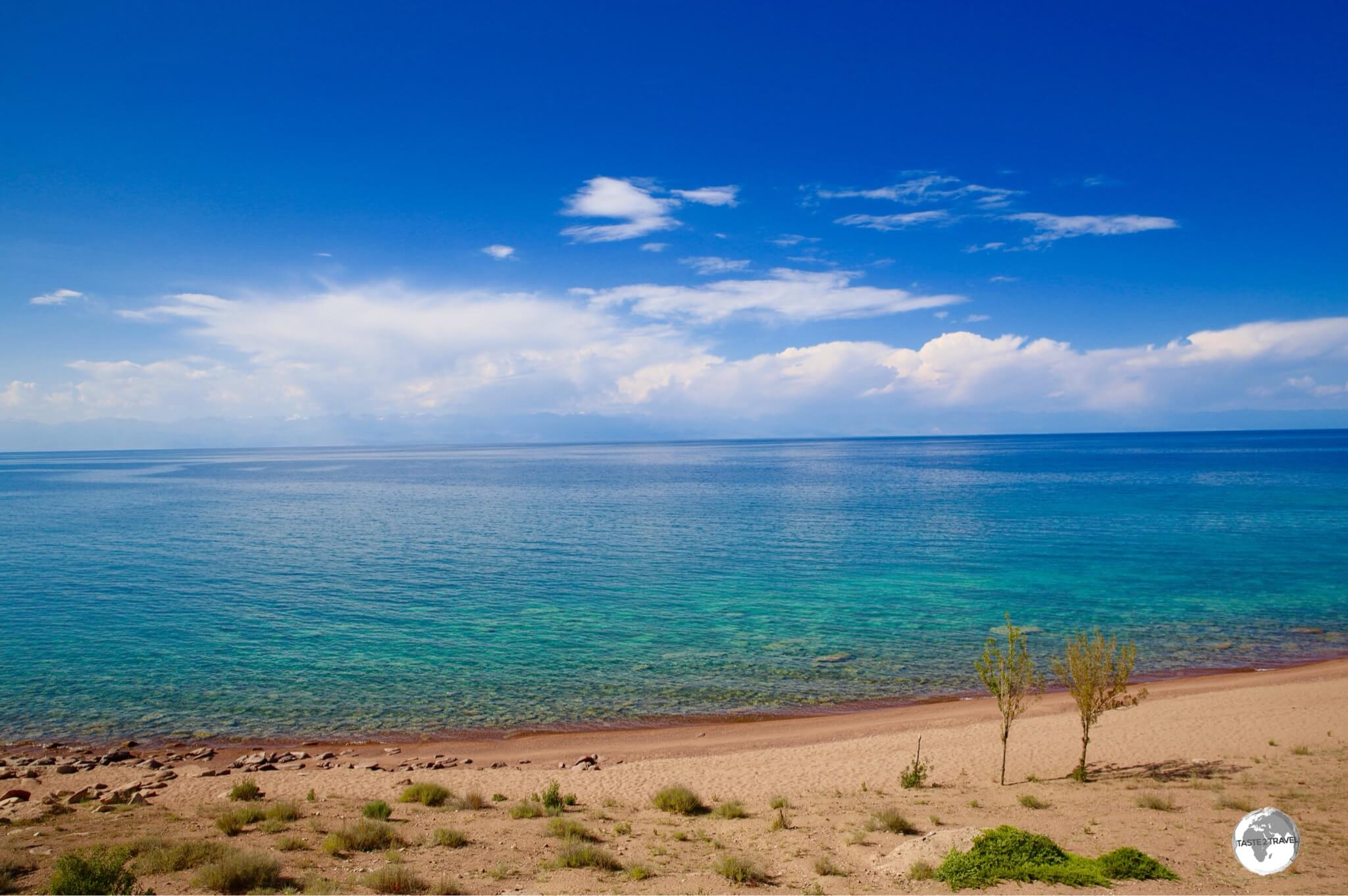 The best beaches on lake Issyk-Kul are to be found on its southern shore.