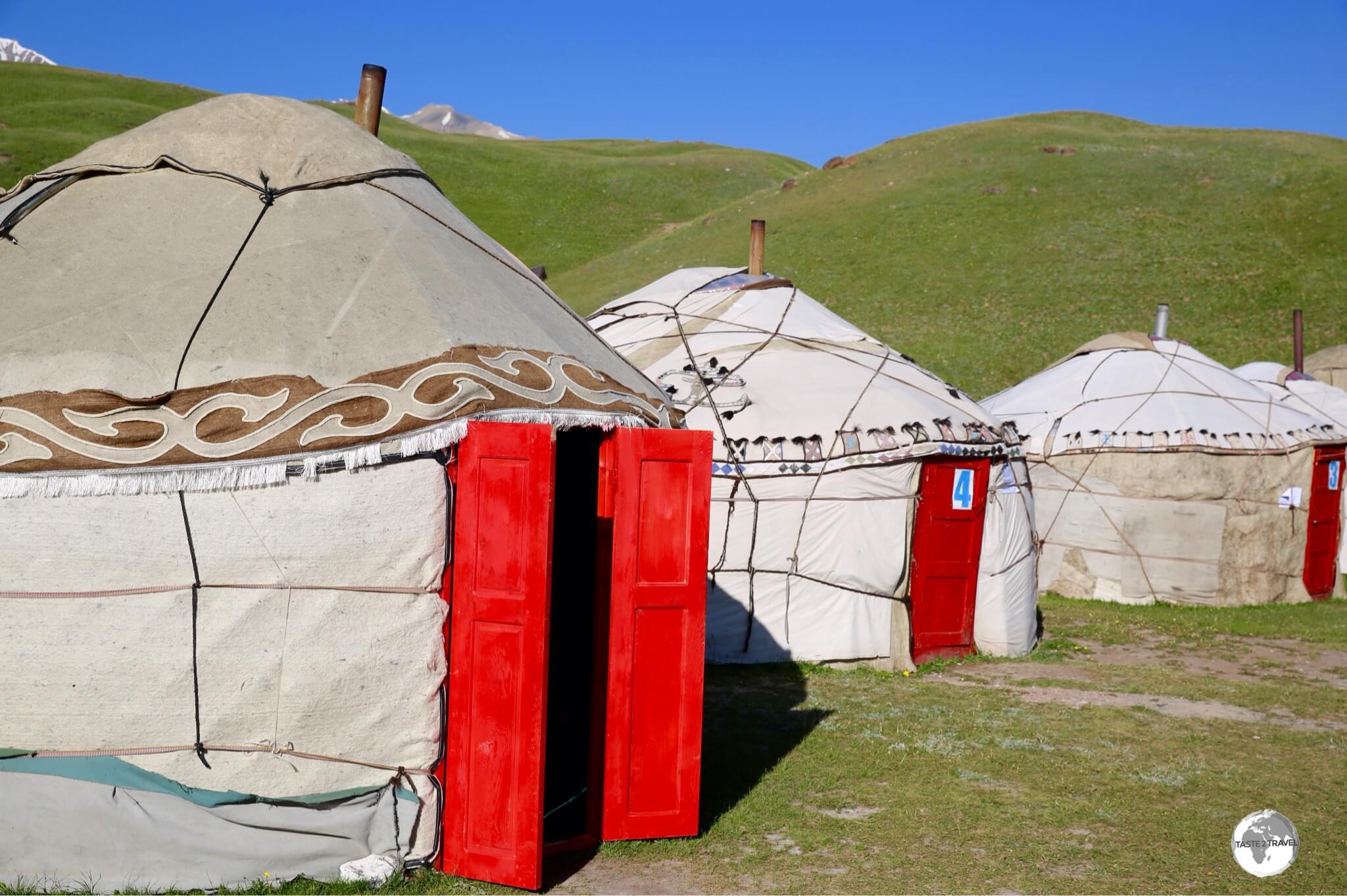 The yurt camp at Lenin Peak.