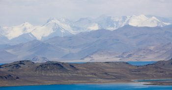 Karakul lake - an incredible sight. Hard to believe it's real and not a painting.