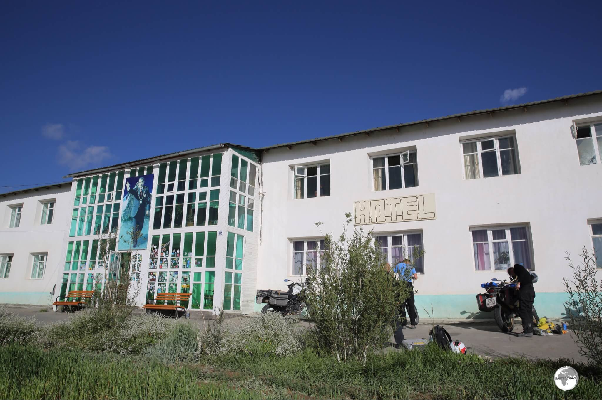 The Pamir hotel overlooks the remote town of Murgab.