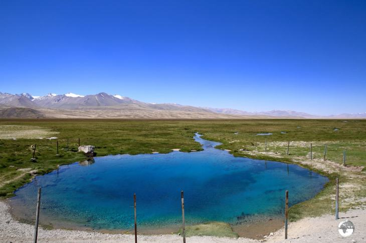 The astonishing fresh-water spring near to the village of Alichur.
