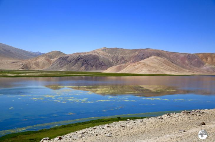 Tajikistan Travel Guide: The shallow waters of Bulunkul lake are frozen for much of the year.