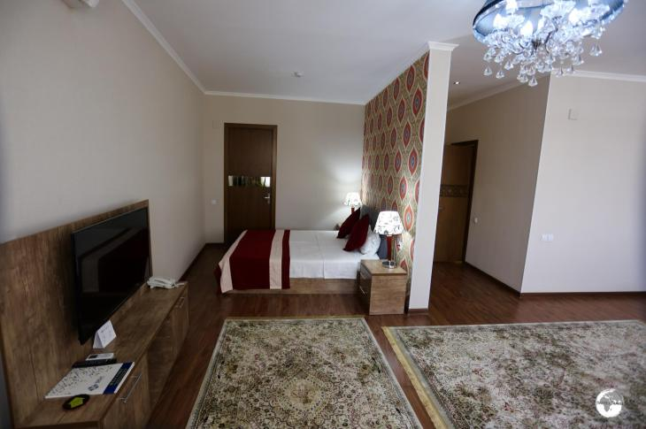 My spacious suite at the Hotel Bek in Samarkand.