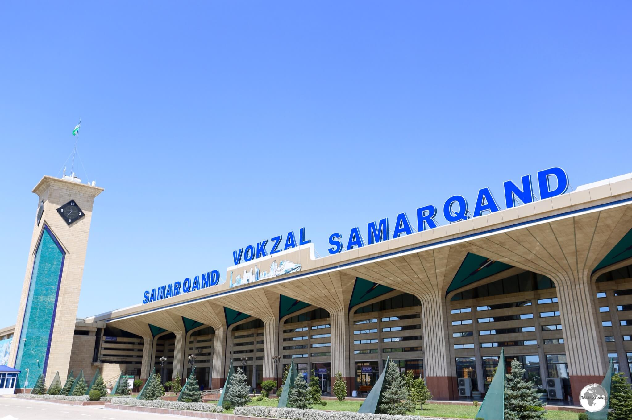 Like all train stations in Uzbekistan, Samarkand station is kept spotlessly clean, quiet, orderly and relaxed.