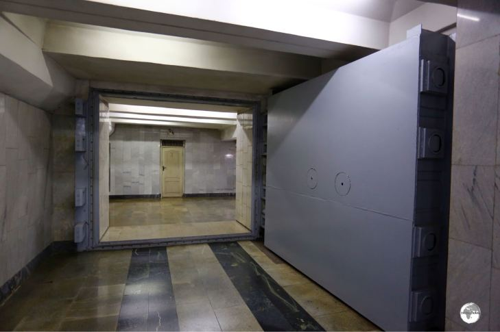 All metro stations were built to serve as nuclear bomb shelters and are fitted with bomb-proof doors at all access points.