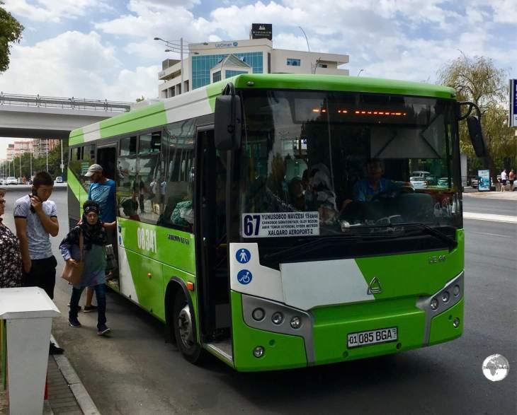 A bus in Tashkent.