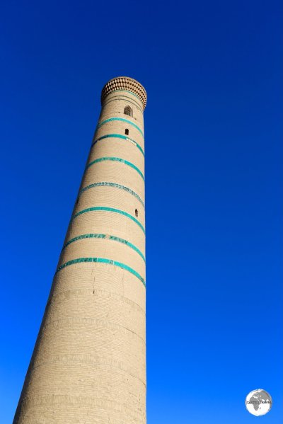 The minaret of Juma-Mosque lies at the heart of the old town of Khiva.