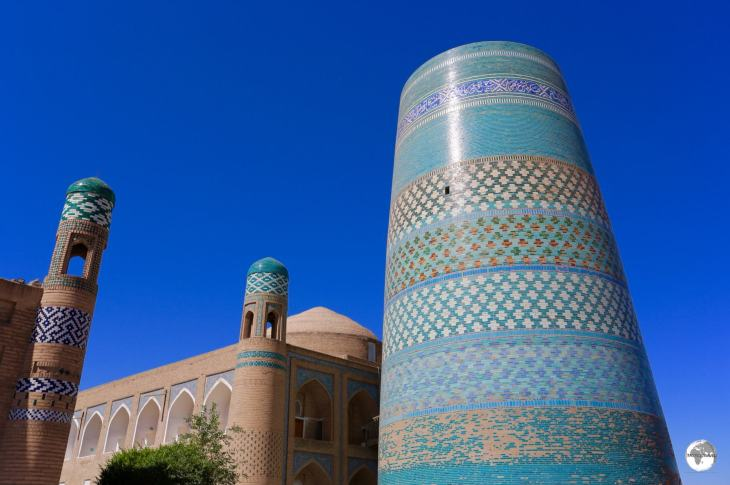 Originally planned to be three times its current height, the stunning Kalta-minor Minaret is one of the main sights of Khiva.