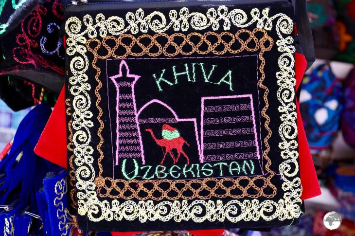The old town of Khiva is brimming with souvenir shops selling colourful 'Khiva' mementos.