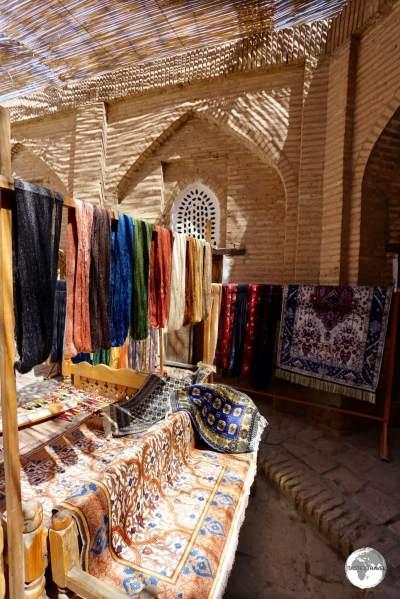 A carpet weaving co-op in Khiva old town.