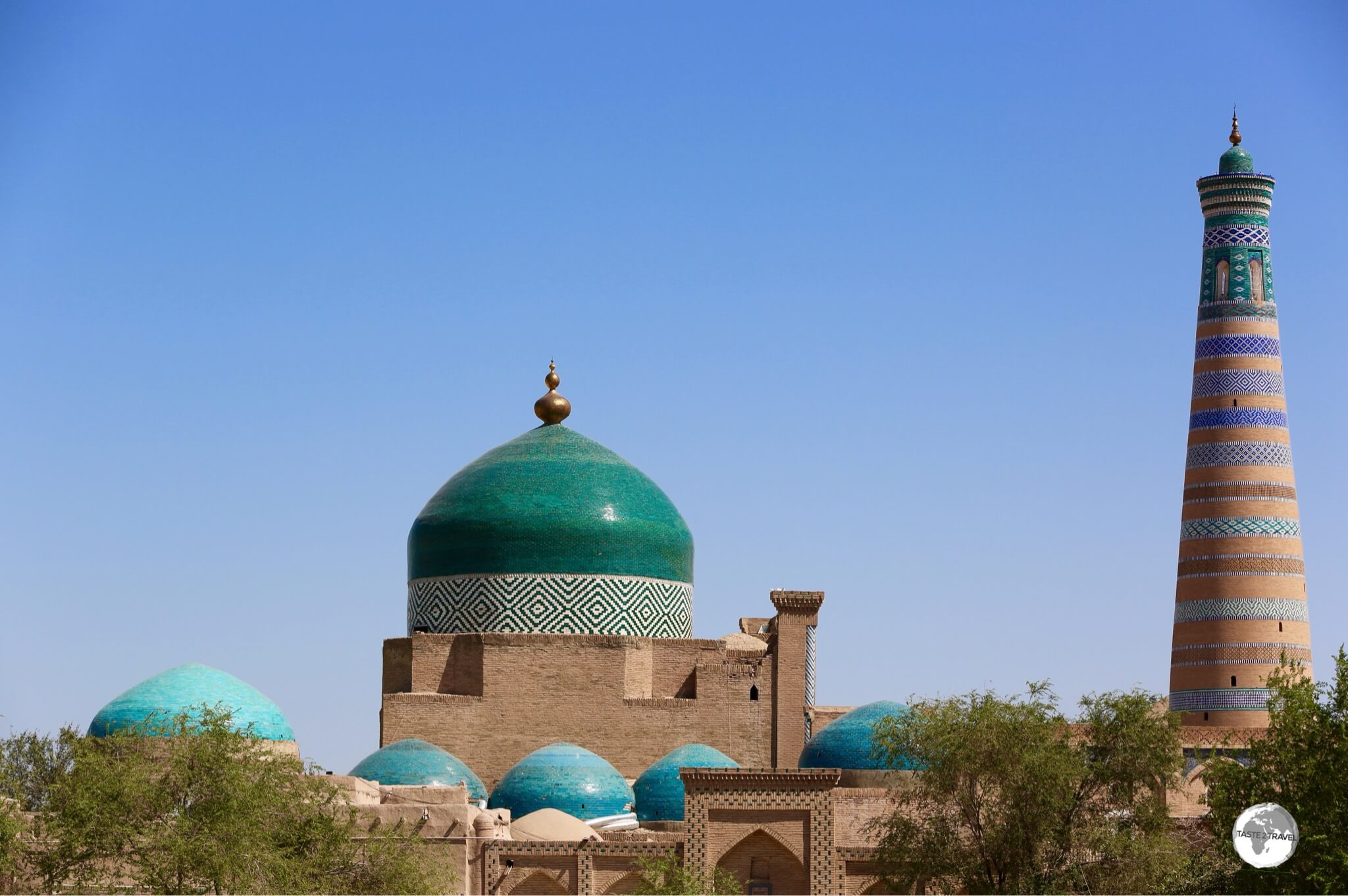 The blue-tiled dome of the Pahlavan Mahmud Mausoleum is the largest in Khiva.