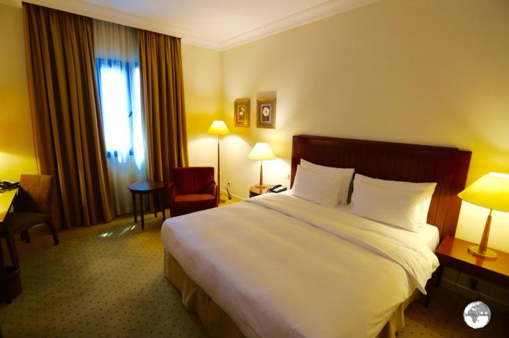 My comfortable room at the Tashkent Radisson Blu hotel.