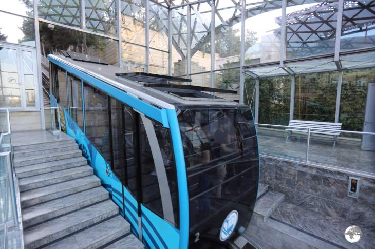 The Baku funicular is a nice way to ascend the steep hill to Highland Park.