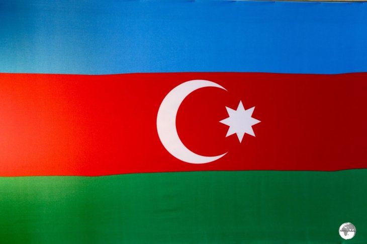 Azerbaijan Flag, National Museum, Baku.