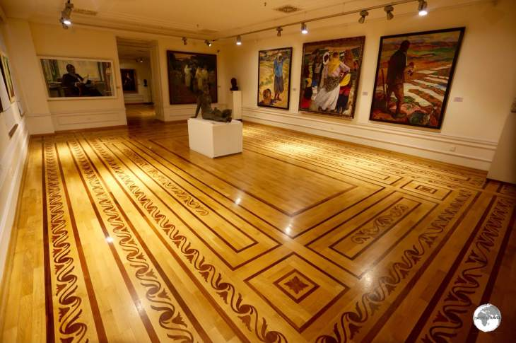 Each of the 60 rooms of the Azerbaijan National Museum of Art feature incredible parquet flooring.