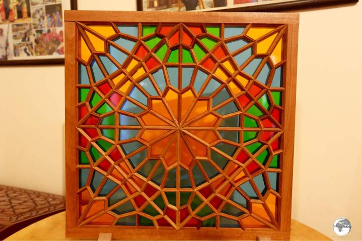 A completed Shebeki panel.