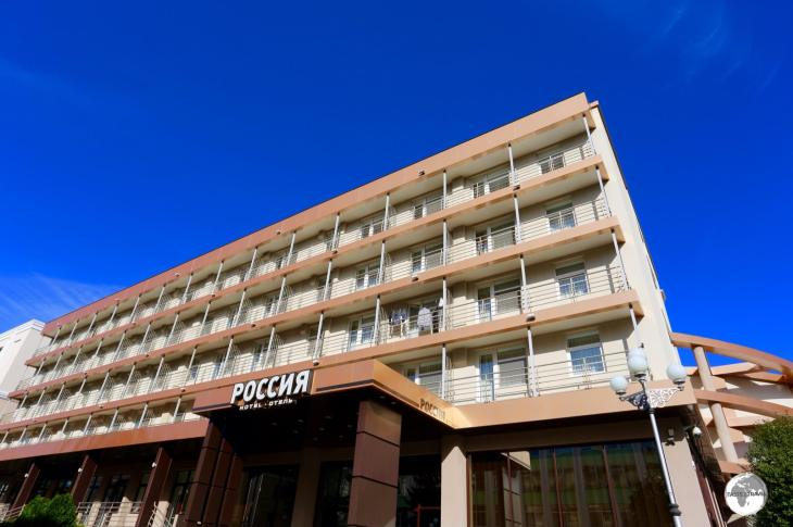 The centrally located, Hotel Russia, is the best hotel in Tiraspol, and very affordable at USD$60 per night.
