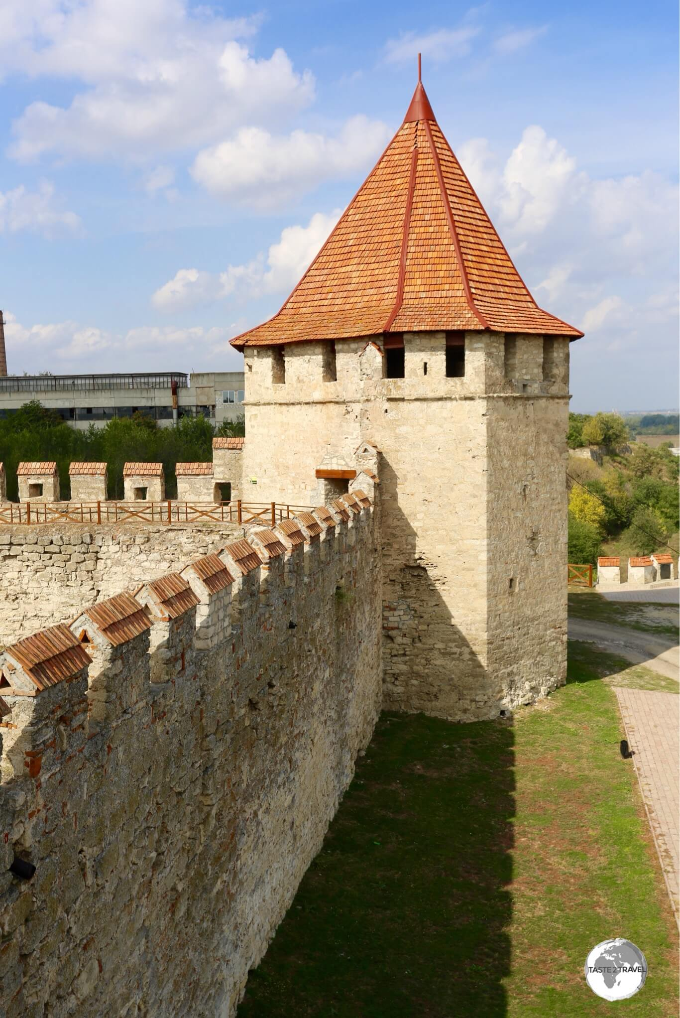 A view of the Ramparts of Bender Fortress.