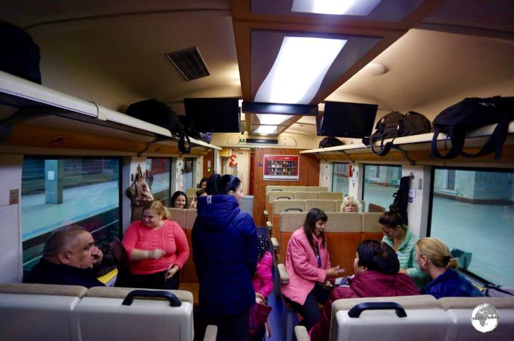 I rode 3rd class on the train from Chișinău to Odessa which was pleasant and comfortable.