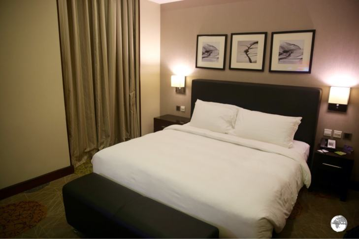 My room at the Radisson Blu Plaza Hotel, Jeddah.