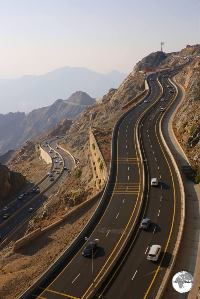 The M80 climbs into the Sarawat mountains from Mecca to the mountain resort of Al Hada.