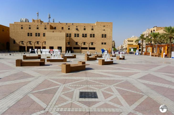 There is just one drain in the middle of Deera square. The building in the background is the headquarters of the 'Mutawwa', Saudi Arabia's religious police.