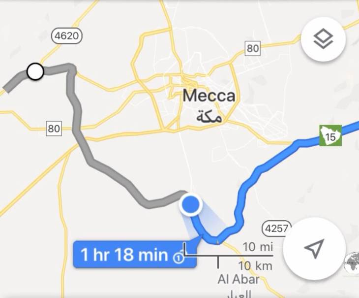 The circuitous route 298, Mecca bypass road, adds more than 100 additional kilometres to the journey from Jeddah to Taif.