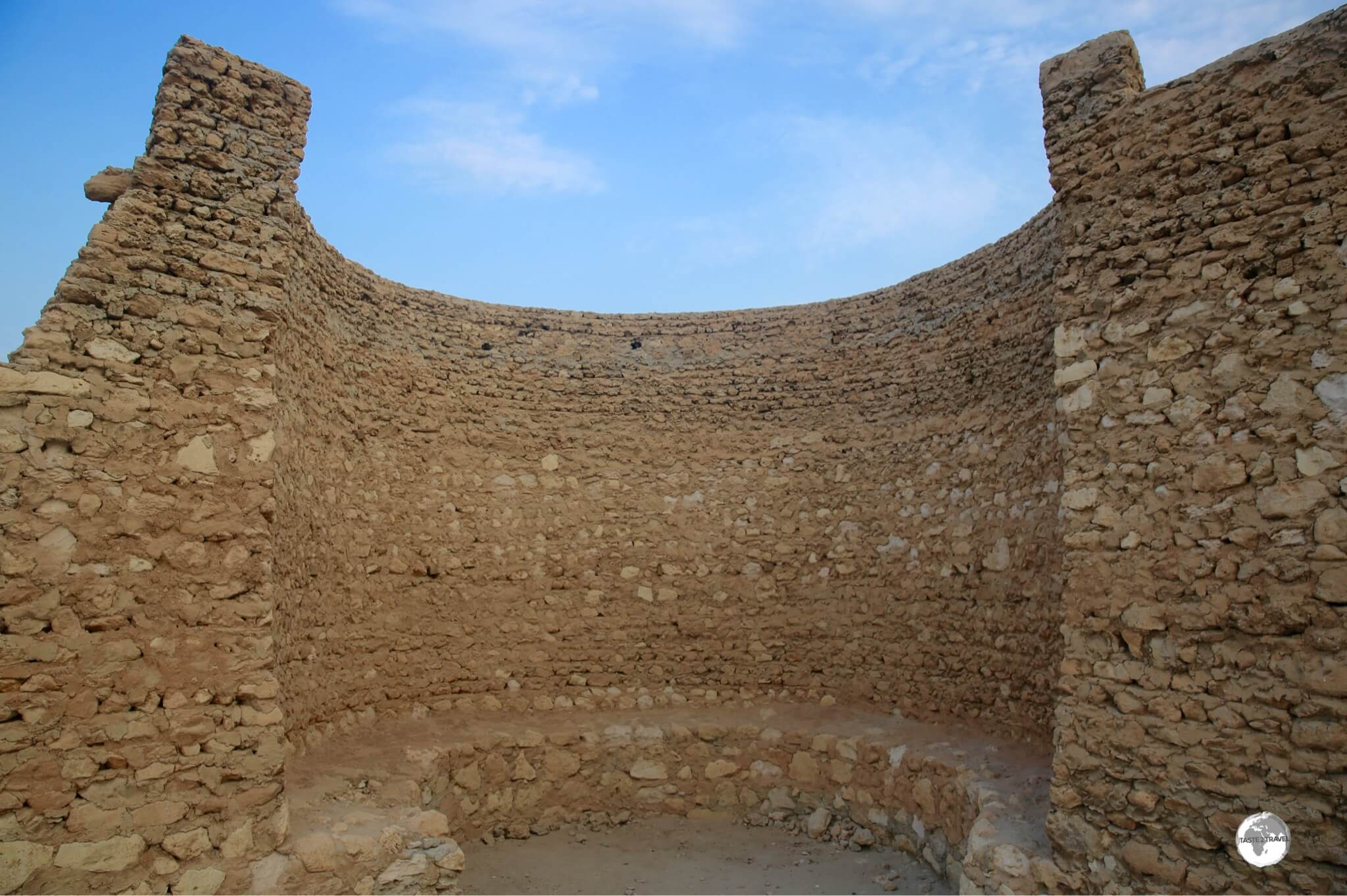 One of the remaining walls of Tarout castle.