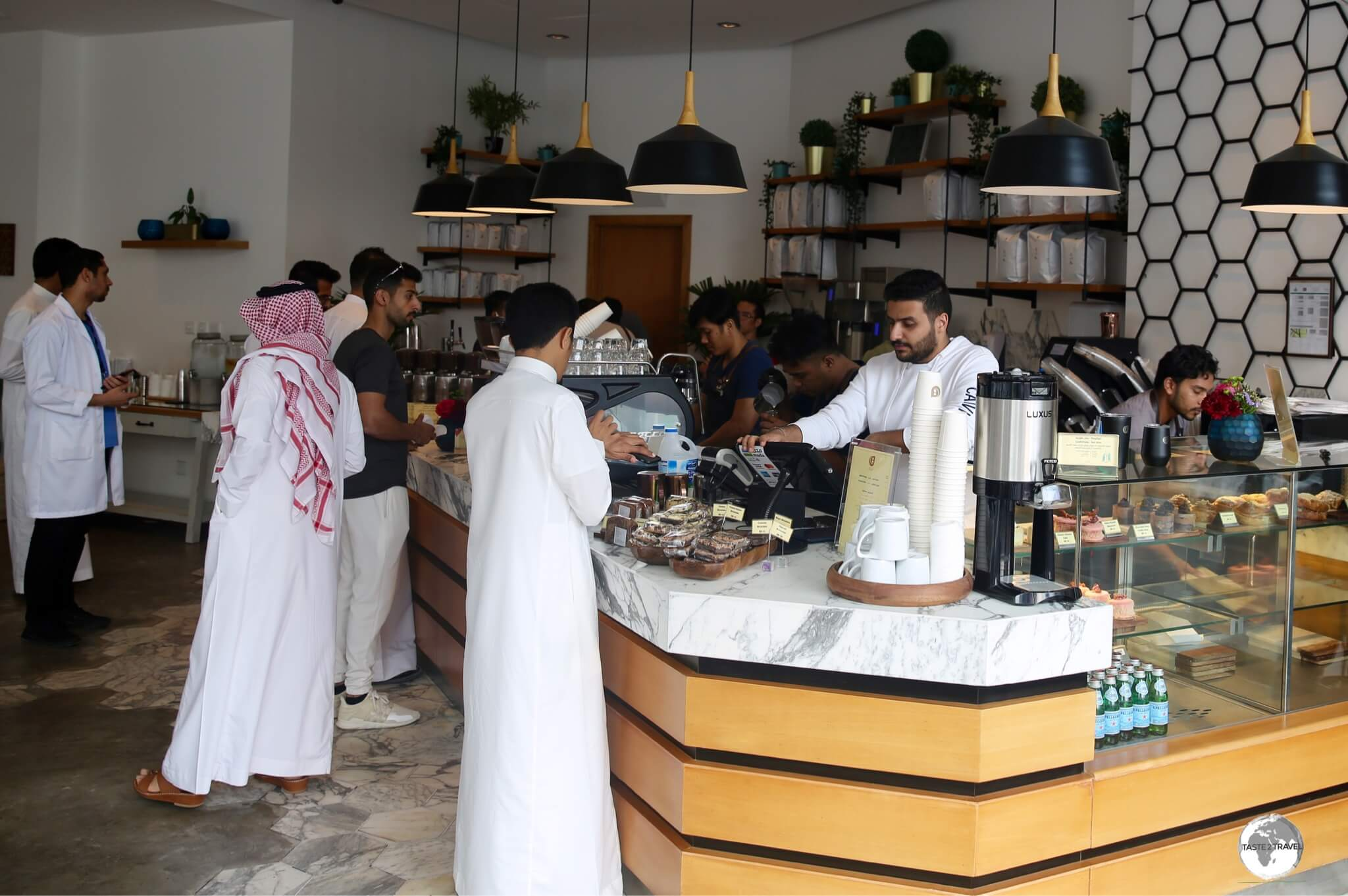 Qaf Coffee Roasters in Al Khobar serves the best coffee in town.