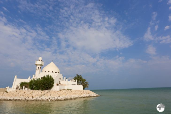 Gracing the waterfront in Al Khobar, the Salem Bin Laden Mosque was built by the Bin Laden family.