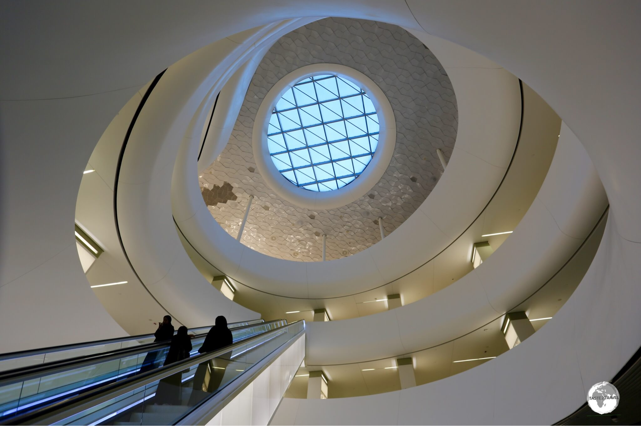 The interior of the King Abdulaziz Centre for World Culture in Dhahran.