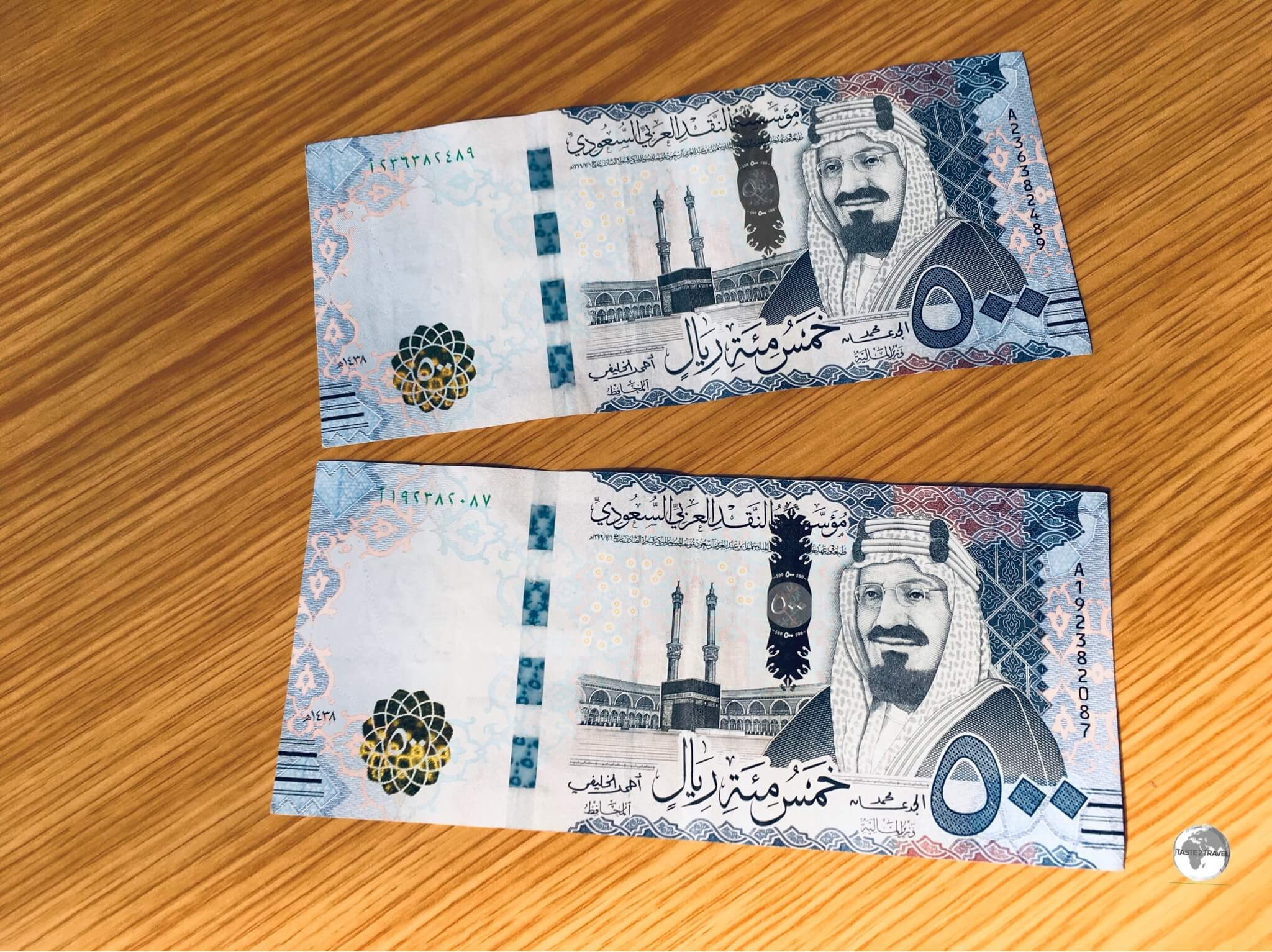 he 500 riyal note features a portrait of King Abdullah.