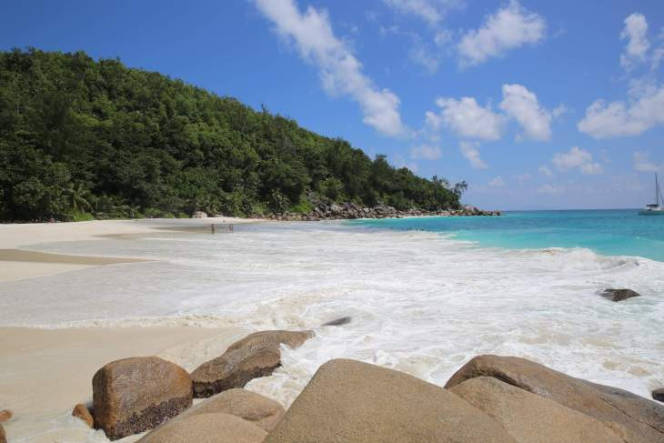 Secluded Anse Georgette is ideal for snorkelling and swimming.