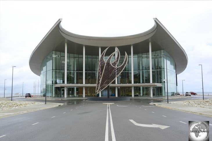 APEC Haus was built to host the 2018 Asia-Pacific Economic Cooperation (APEC) forum in Port Moresby.