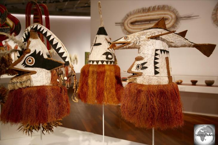 Displays at the Papua New Guinea National Museum and Art Gallery.