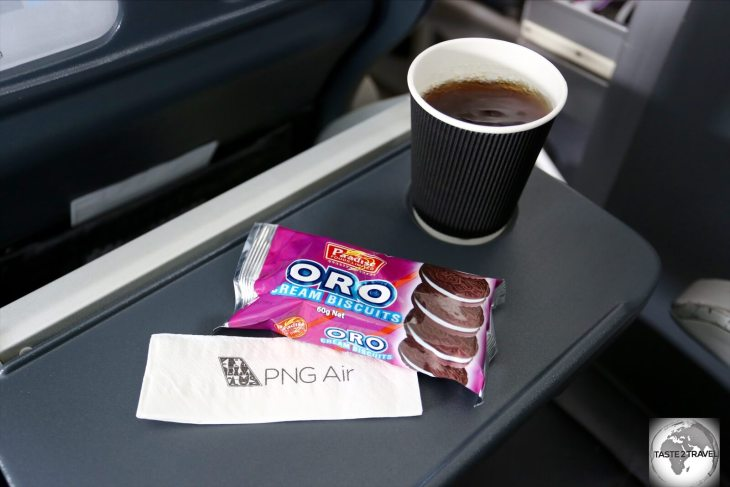 A snack on PNG Air.