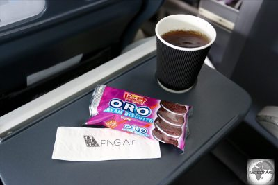 The snack served on my PNG Air from Madang to Port Moresby.