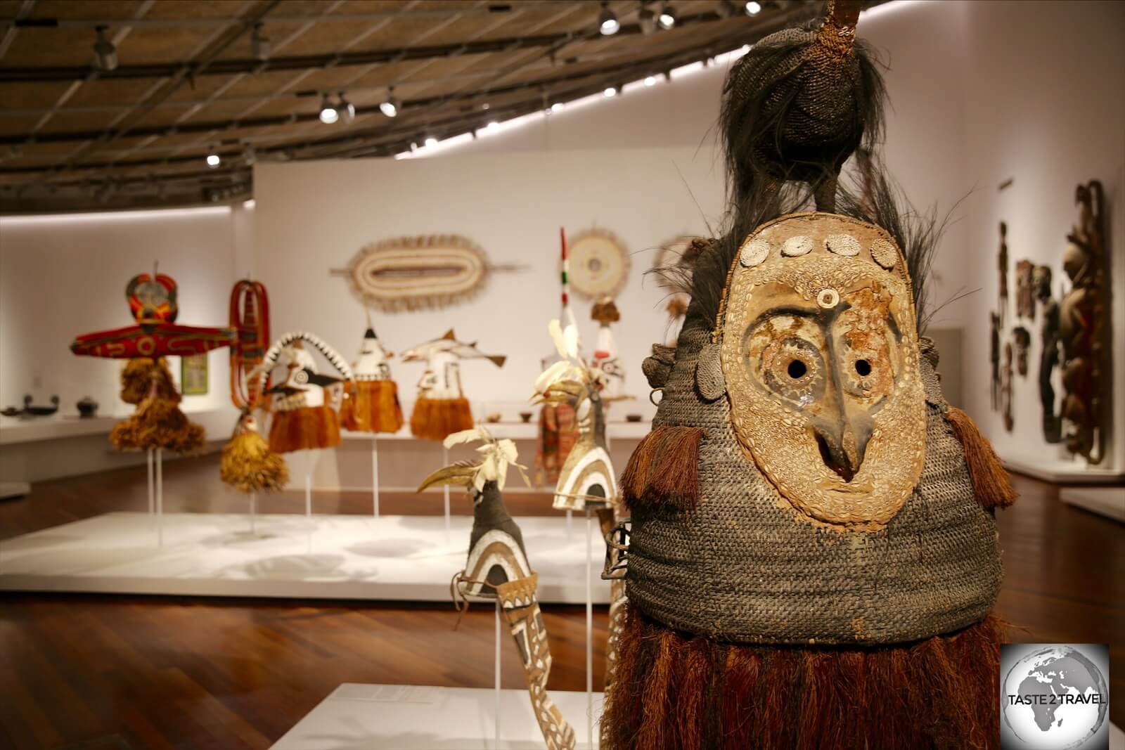 The National Museum & Art Gallery in Port Moresby showcases the many diverse tribal cultures which can still be found in modern-day PNG.