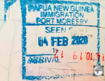 My Papua New Guinea entry stamp.