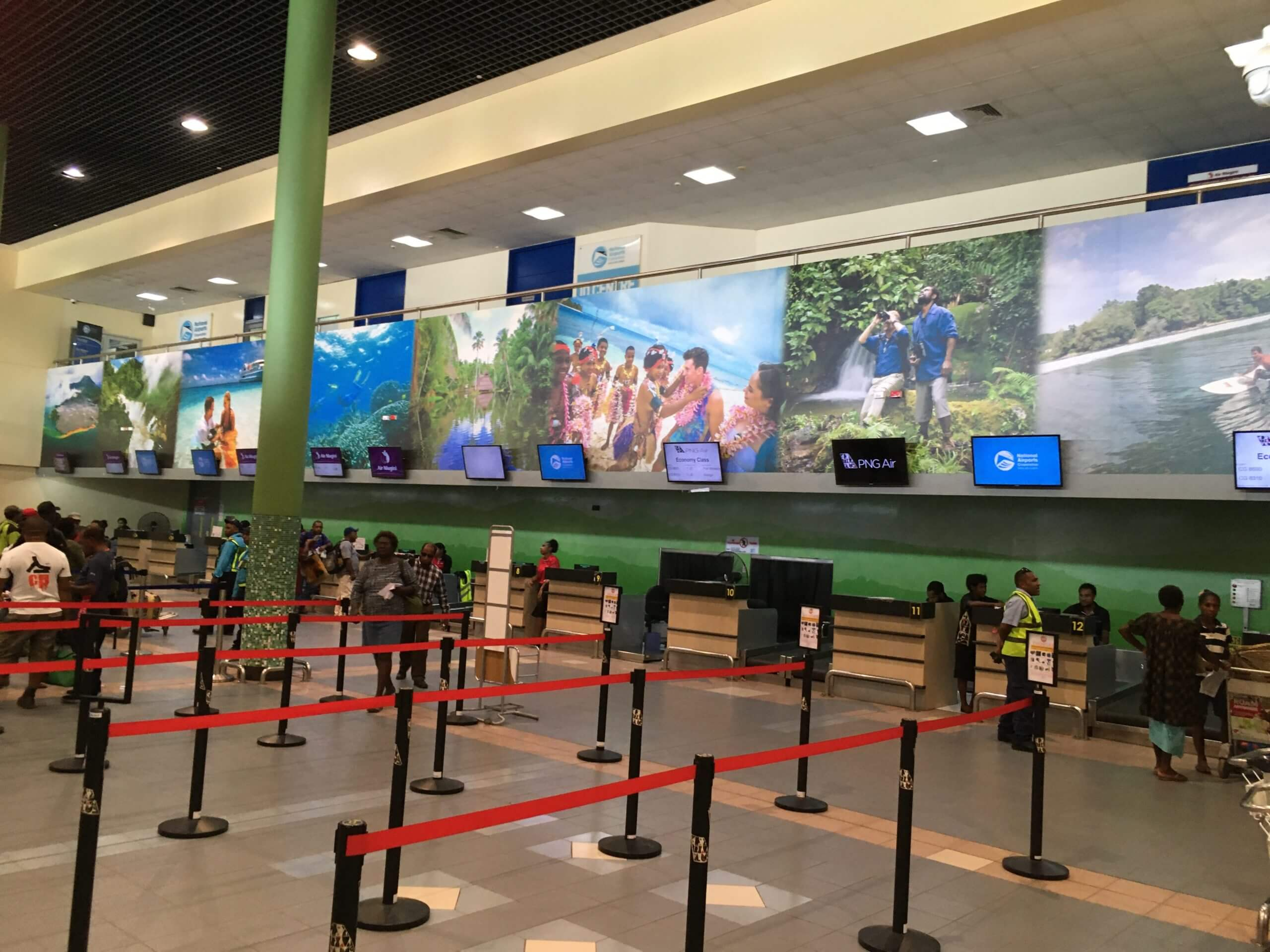 Domestic check-in area at Jacksons International airport in Port Moresby.