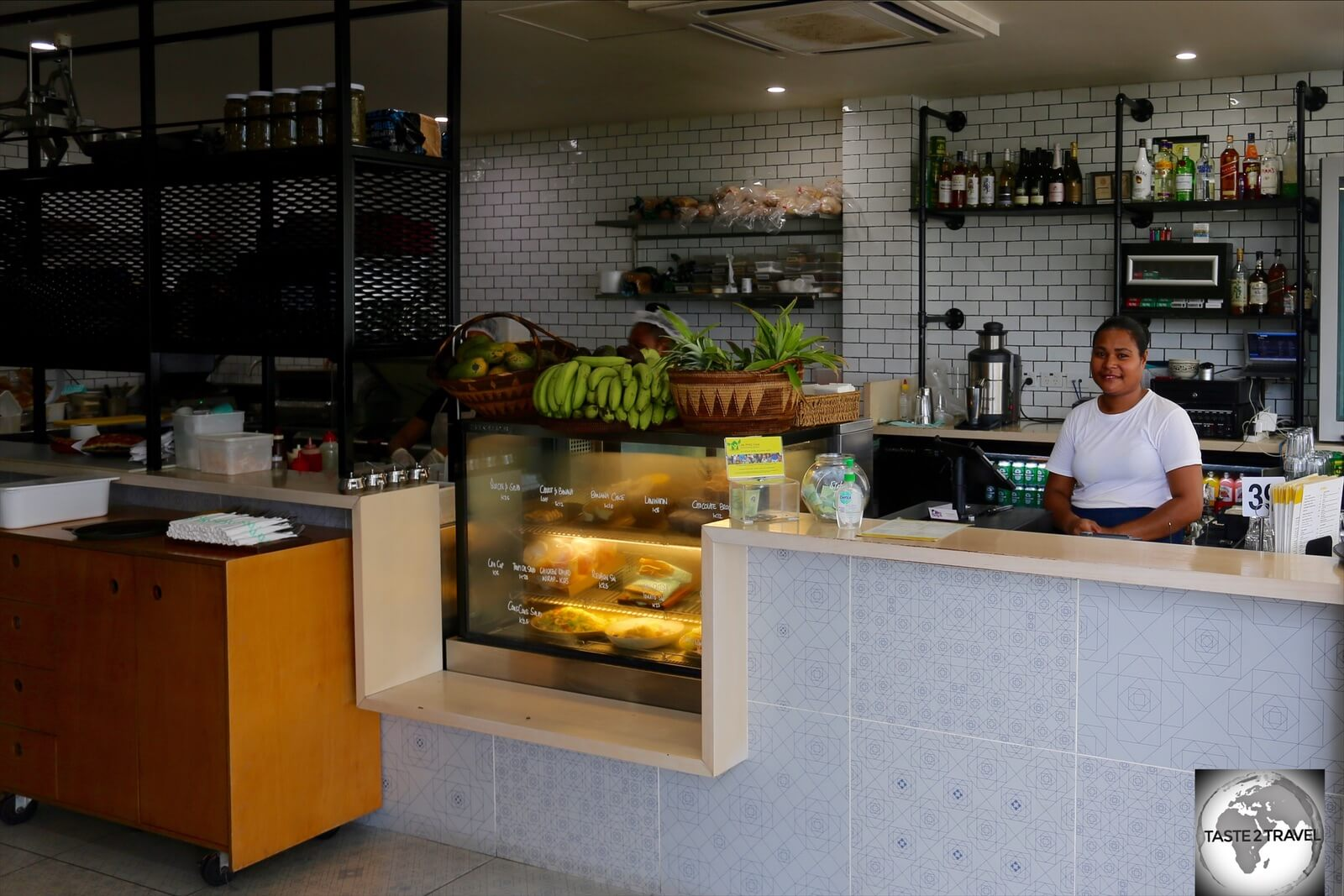 The 'Edge by the Sea' café is a favourite choice for expats and visitors.