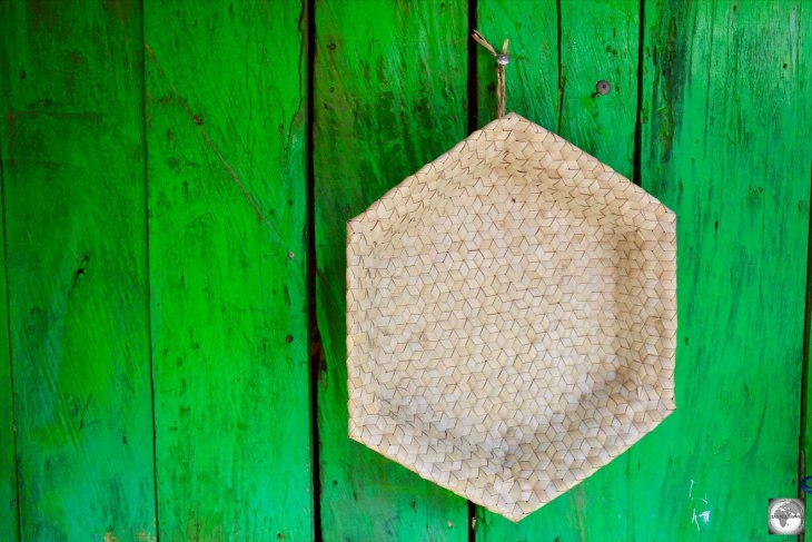 Some of the best bargains in Timor-Leste are the hand-made crafts, such as this basket at the Tais market.