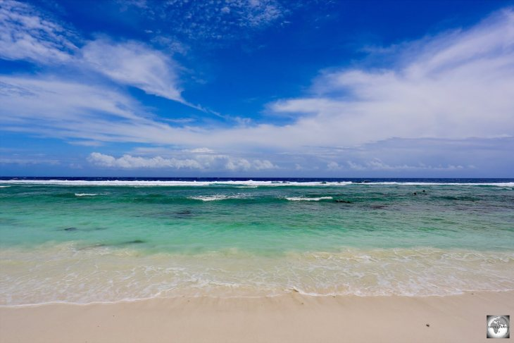 A view of Anibare Bay, Nauru.